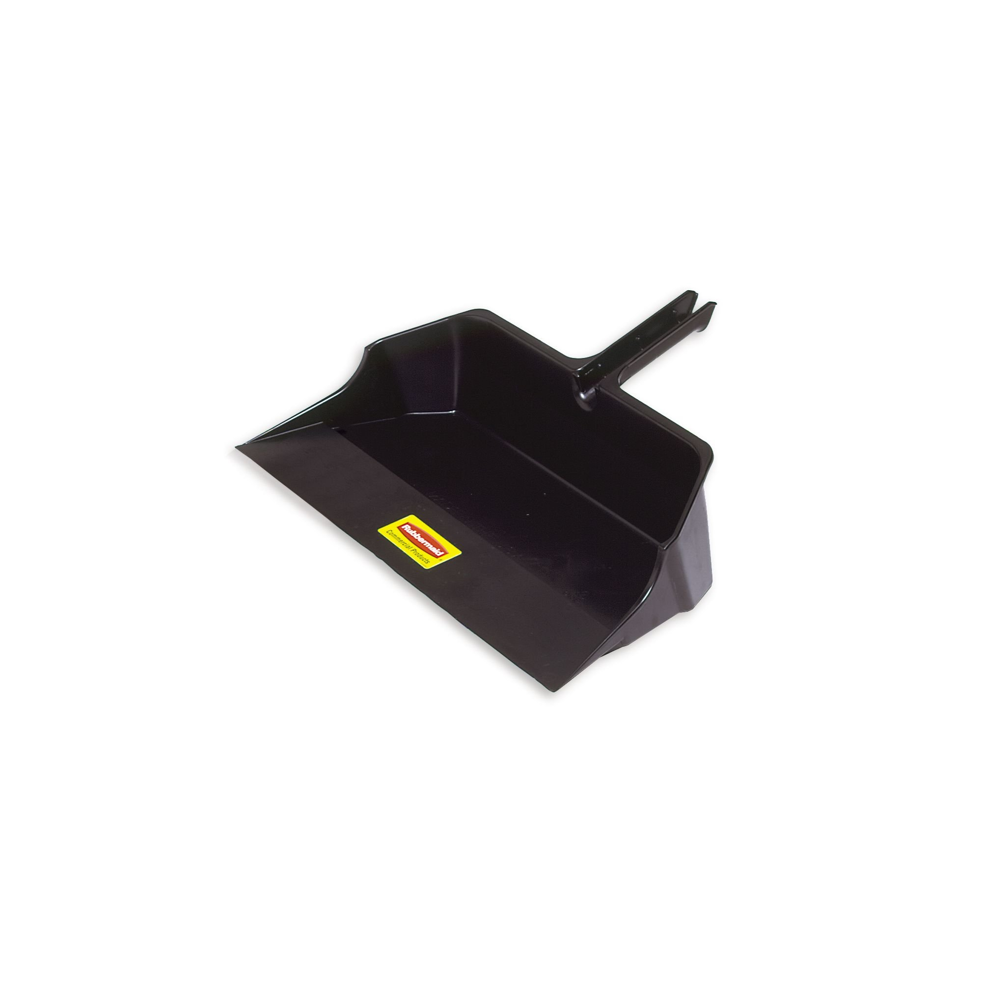 Rubbermaid Commercial Products FG9B6000BLA Jumbo Dust Pan, 18'' Head Width, Black (Pack of 6)