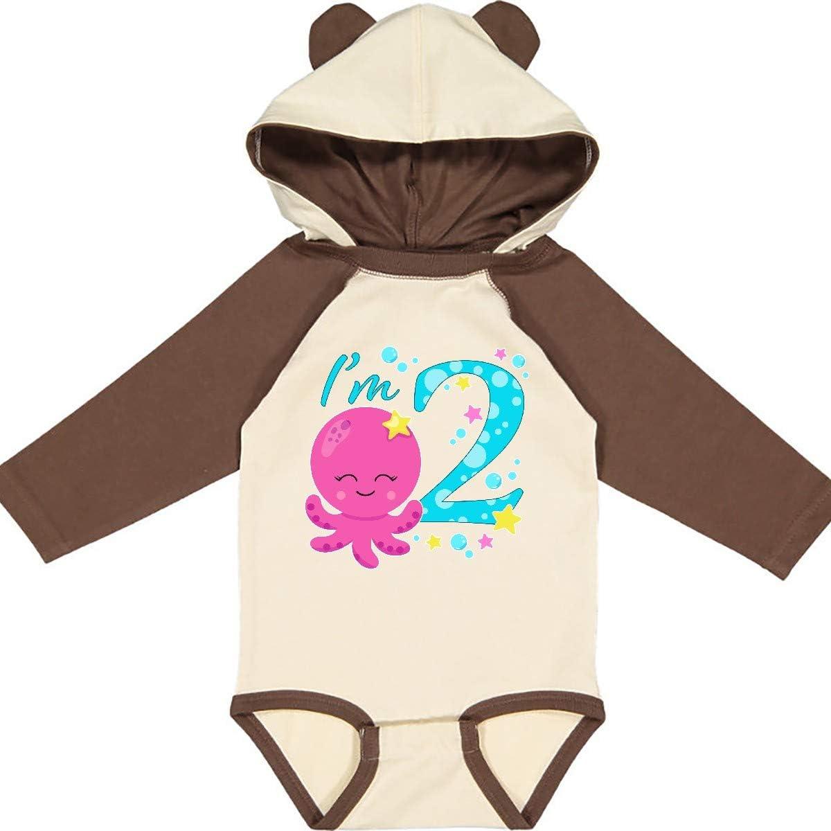 inktastic Im Two Cute Octopus Birthday Long Sleeve Creeper