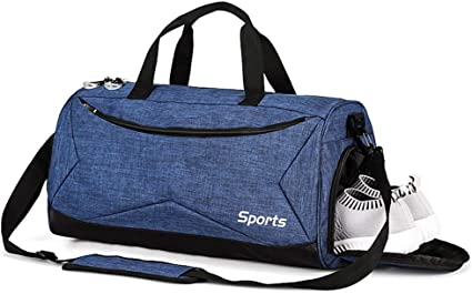 Sports Gym Bag Travel Duffle Bags with Shoe and Dry Wet Separate Compartment