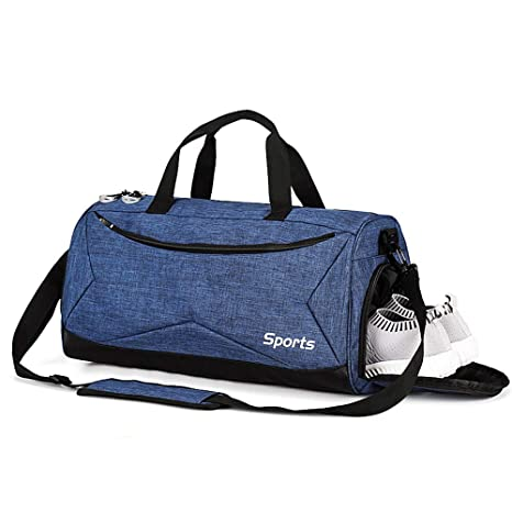 ed1b72b7765a Amazon.com  TOBWOLF Sports Gym Bag with Shoes Compartment   Wet Pocket for  Men Women  Sports   Outdoors