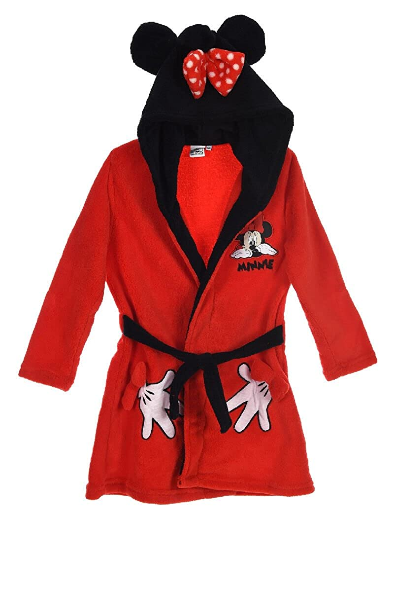Minnie Mouse Girls Coral Fleece Hooded Bath Robe By BestTrend