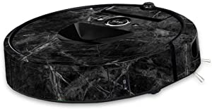 MightySkins Skin Compatible with iRobot Roomba i7 Robot Vacuum - Black Marble | Protective, Durable, and Unique Vinyl Decal wrap Cover | Easy to Apply, Remove, and Change Styles | Made in The USA