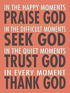Praise God 12x16 Inspirational Poster Christian Art Print