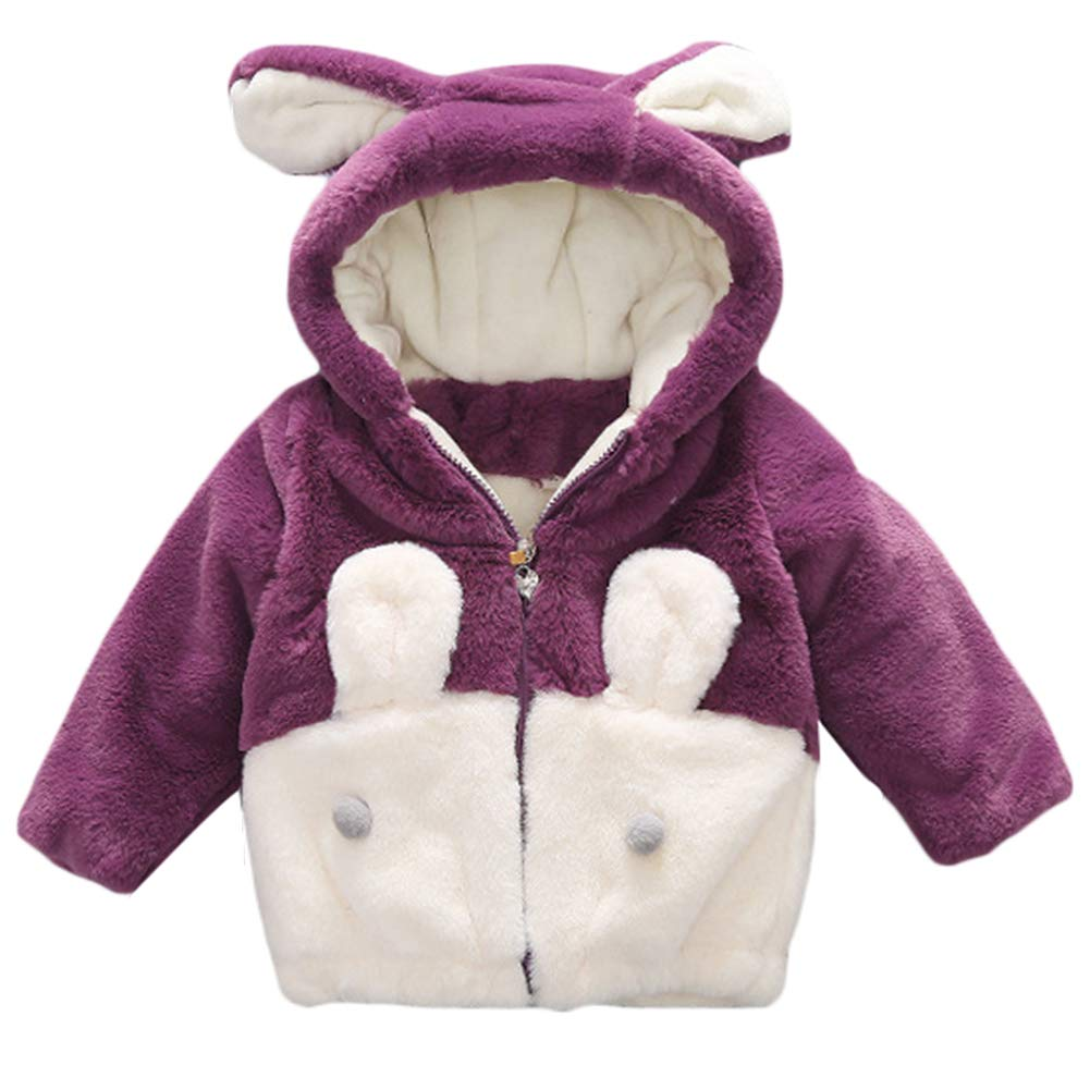 Baby Mädchen Winterjacke Mantel Kleinkinder Dicke Warme Süß Bär Fleecejacke Kapuzenmantel Winter Bekleidung