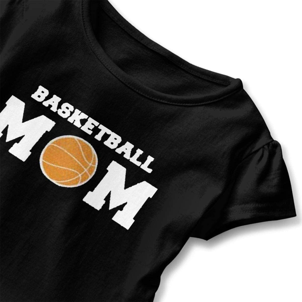 Not Available Basketball Mom Shirt Baby Girls Ruffles Cotton Shirt Dress for 2-6 Years Old Baby