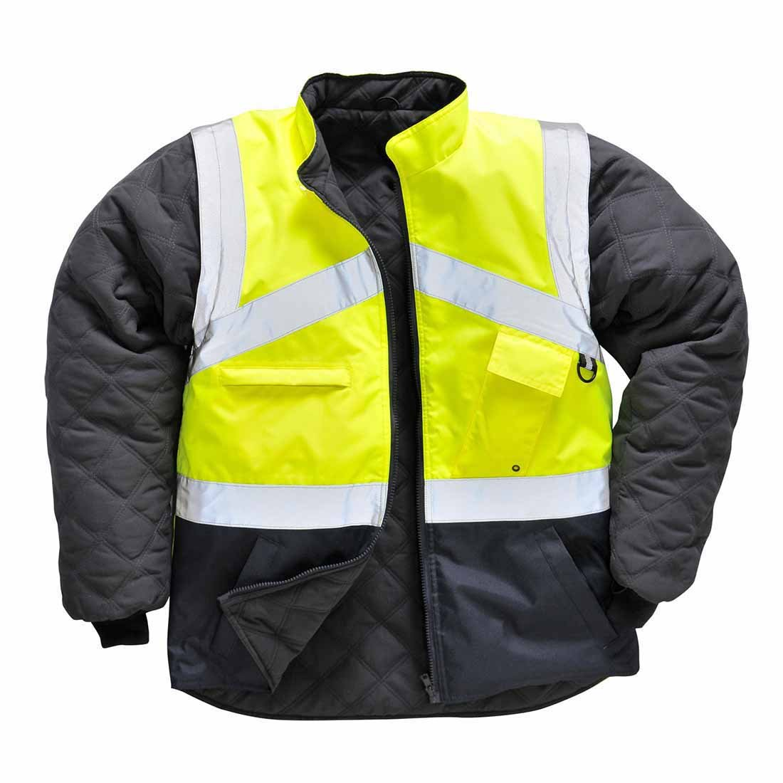 Portwest S769YNRXXXL Hi-Vis 2-Tone Jacket, 3X-Large, Yellow/Navy