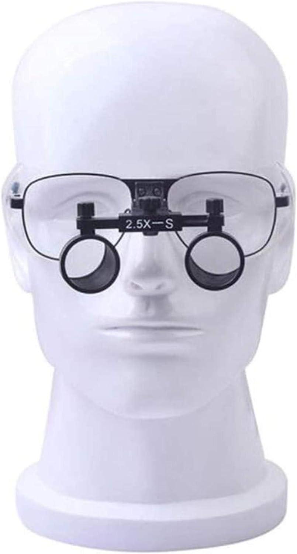 HZWLF Lupa Binocular Profesional, lupas médicas, lupas, Aumento de 2,5 aumentos sin distorsión para Que Las Personas Mayores Lean, Tarjetas, Sellos y Departamento de Otorrinolaringol