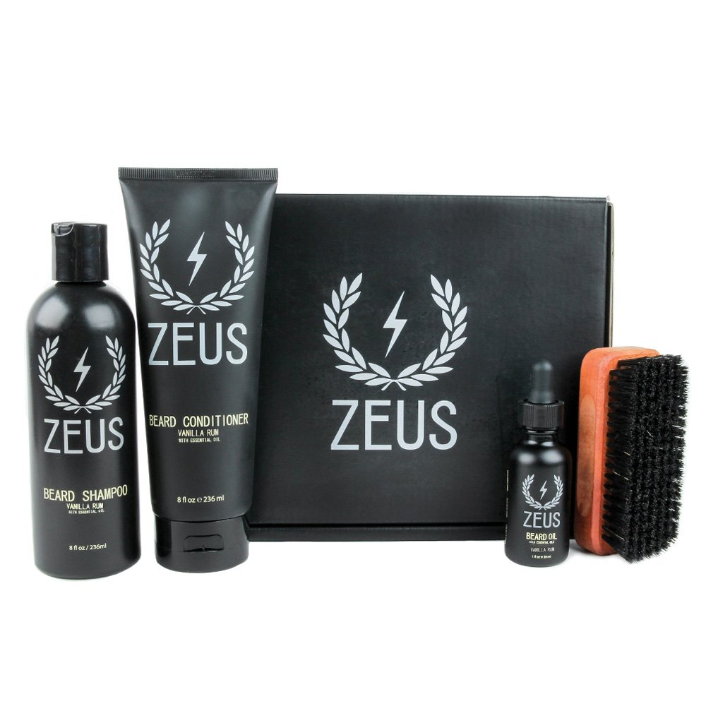 ZEUS Deluxe Beard Grooming Kit for Men, Verbena Lime Newport Apothecary Inc. ZEU407-132-02