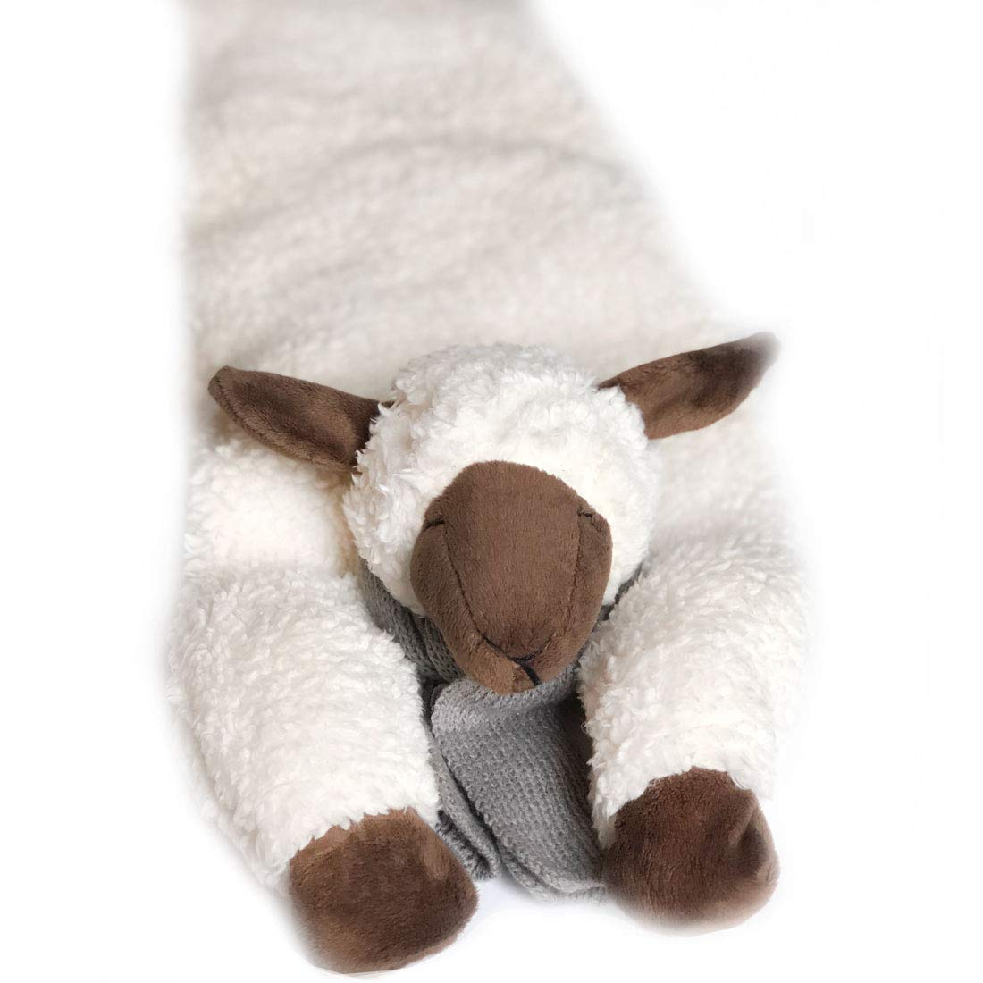 Huggaroo Lamb Weighted Lap Pad: 3.6 lbs, 29 x 8 inches, Easy Care - 100% Washable