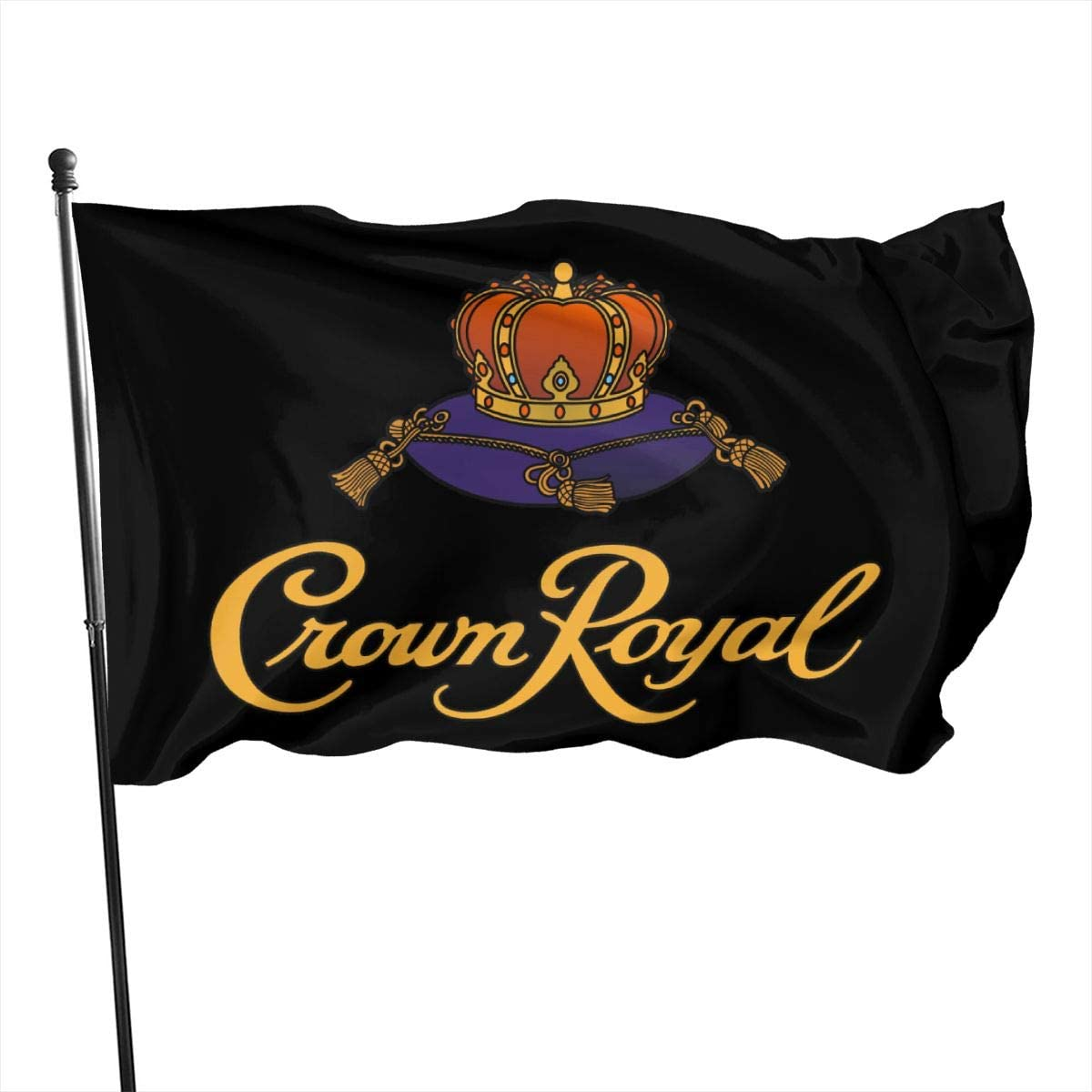 Crown Royal Logo Decorative Garden Flags, Outdoor Artificial Flag for Home, Garden Yard Decorations 3x5 Ft