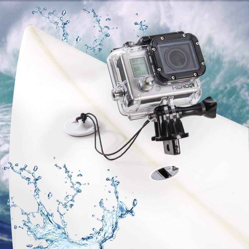 Surfboard Surfing Mount Tether Locking FCS Plug Kit GoPro Hero