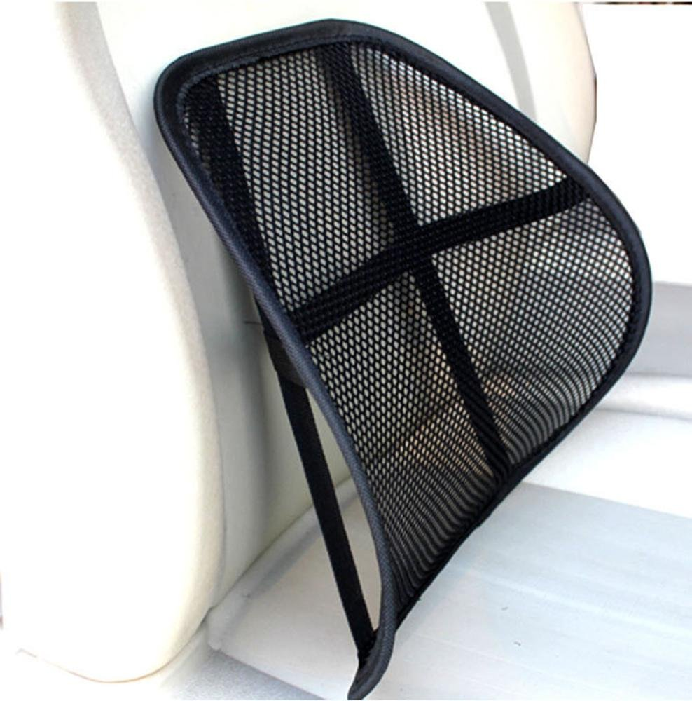 BSGSH Lumbar Support Cushion Seat Back Muscle Car Home Office Chair Pain Relief Travel - Cool Breathable Mesh Support by BSGSH (Image #2)