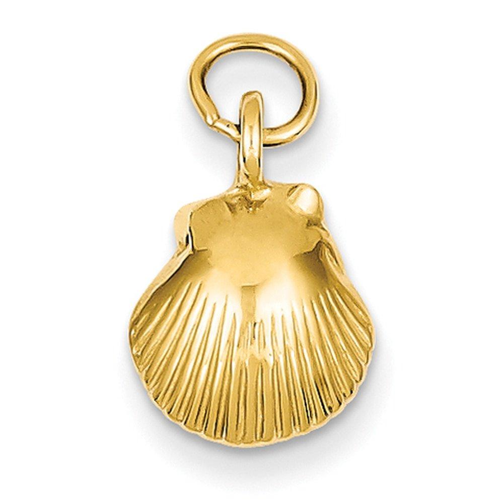 Lex /& Lu 14k Yellow Gold Seashell Pendant LAL77140