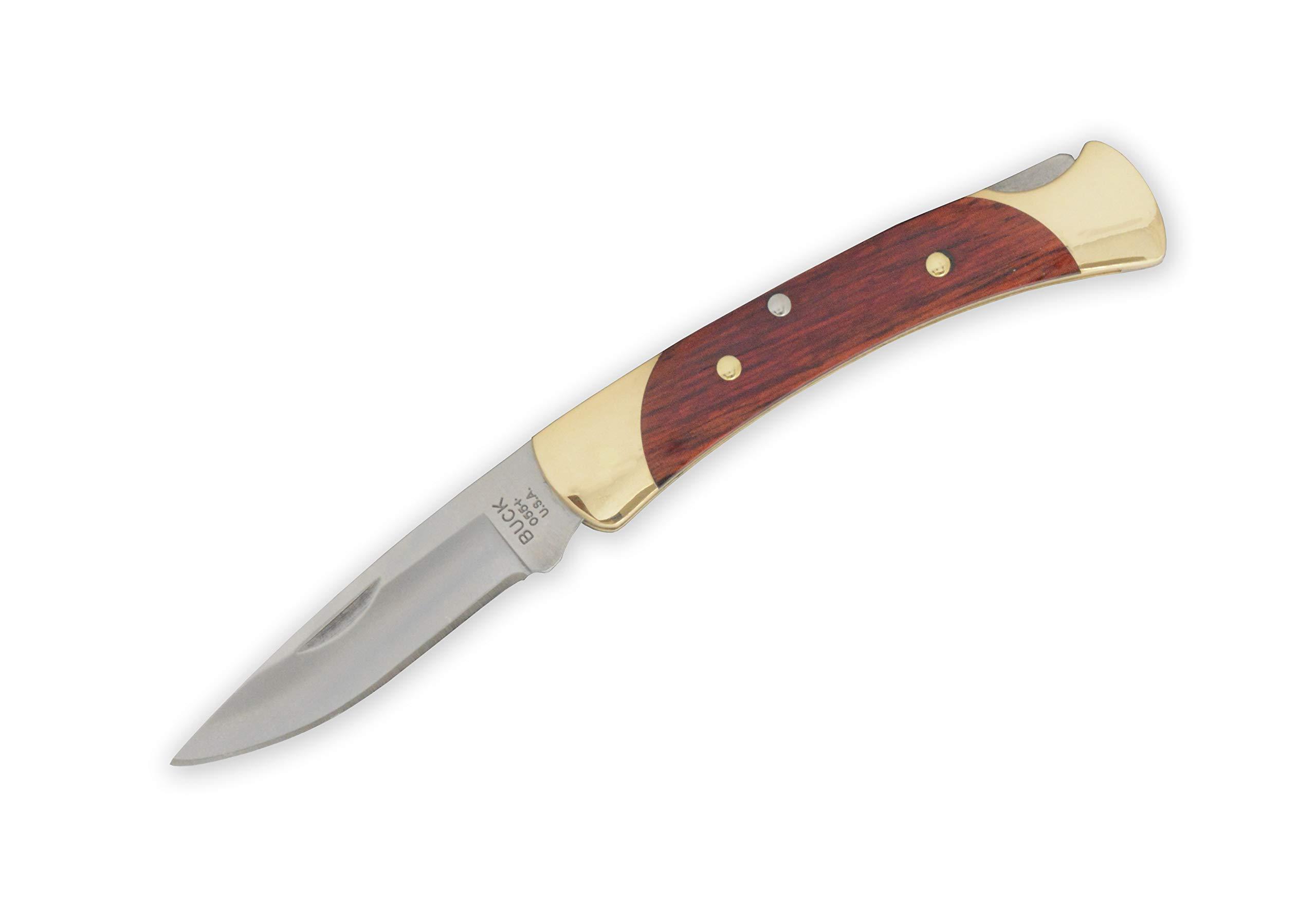 Buck Knives 055 Mini 110 Folding Hunter Rosewood Drop Point Locking Pocket Knife The 55'' by Buck Knives (Image #1)