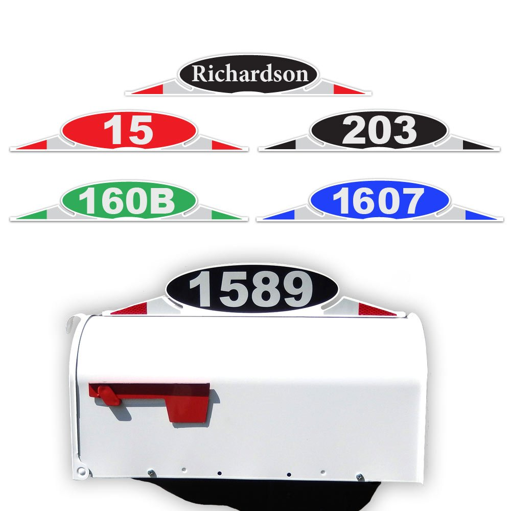 CIT Group Mailbox Address Plaque, Reflective Number Plate, Mailbox Topper. Self Stick Mailbox Address Marker No Hardware Needed! by CIT Group
