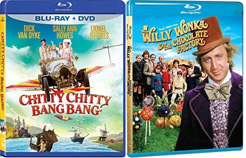 Willy Wonka & The Chocolate Factory & Chitty Chitty Bang Bang Musical Blu Ray Family Set