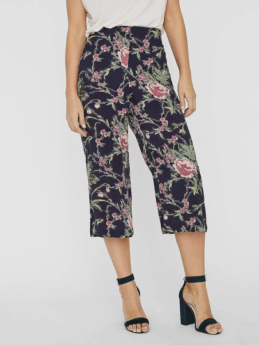 Vero Moda Vmsimply Easy Hw Culotte Pant Wvn Ga Pantalones De Tela Para Mujer Pantalones Mujer
