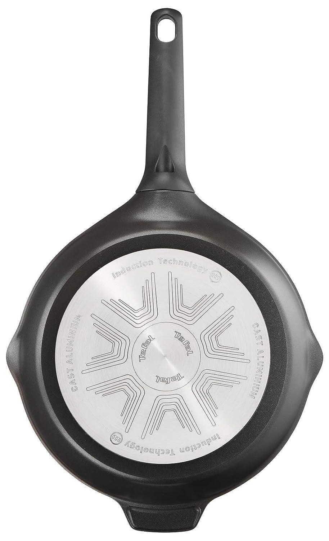 Tefal Aroma Sartén de Aluminio Fundido 24 cm Recubrimiento de Titanio Antiadherente y Thermosport, Aptas para Todo Tipo de Cocinas, Base Gruesa Óptima para ...