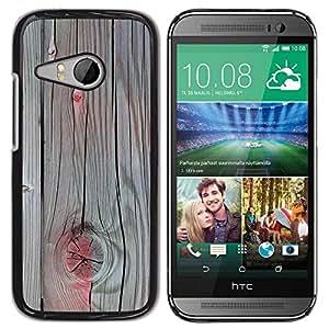 Paccase / SLIM PC / Aliminium Casa Carcasa Funda Case Cover para - Accent Grey Wood Paint Cracked - HTC ONE MINI 2 / M8 MINI