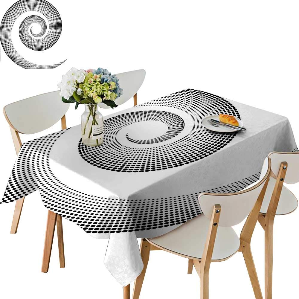 UHOO2018 Eco-Friendly and Safe Spiral Dimensional Curve Turns Around an Axis Rotary Parallel to Ring Center Image Square/Rectangle Multi Colors & Sizes,54 x120inch.