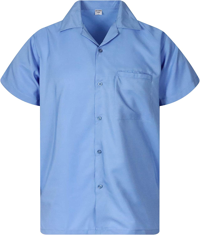 Original King Kameha | Funky Camisa Hawaiana Señores | XS-12XL |Manga Corta Bolsillo Delantero | impresión De Hawaii| Blanco