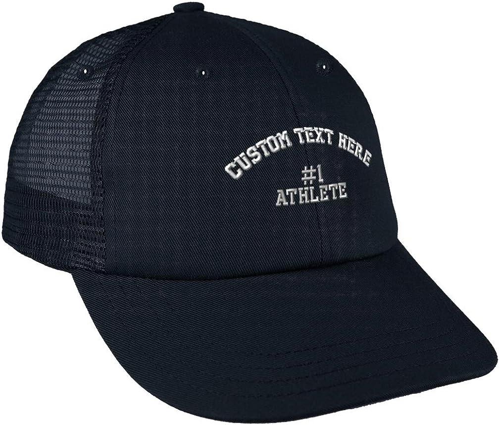 Custom Trucker Hat Baseball Cap #1 Athlete Embroidery Dad Hats for Men Snaps