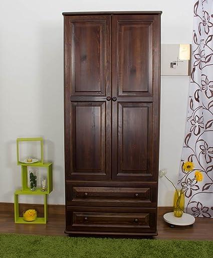 Perchero Armario Rústico Pino, color: nogal 190 x 80 x 60 cm ...
