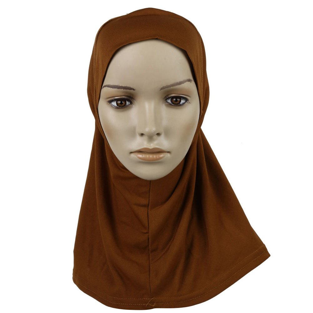 Weixinbuy Islamic Head Wear Band Neck Bonnet Chest Cover Wraps