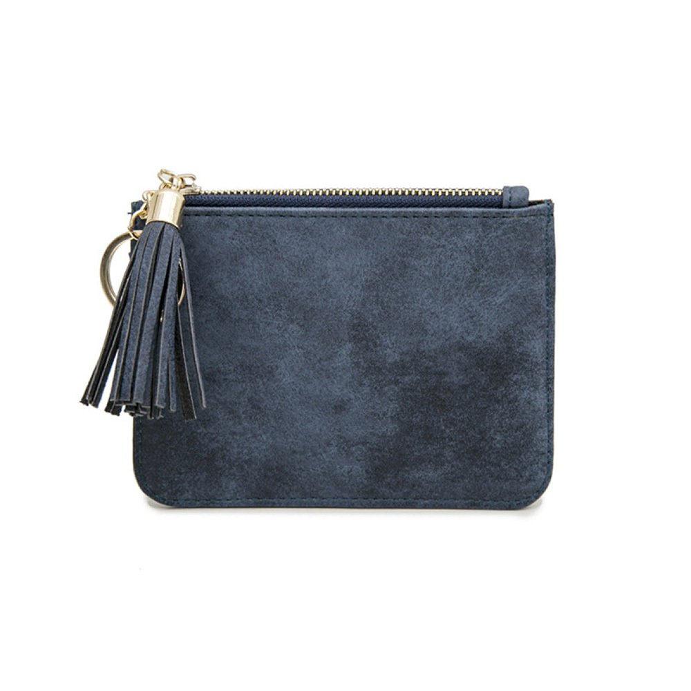 E Ms. Wallet by ZAIYI Ms. Mini Wallet Purse Women Short Small Fresh Students Thin Fringed Coin Bags,E