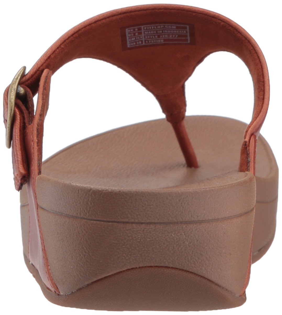 FitFlop Women's The Skinny Leather Toe-Thong Sandal, Dark Tan, 10 M US by FitFlop (Image #2)