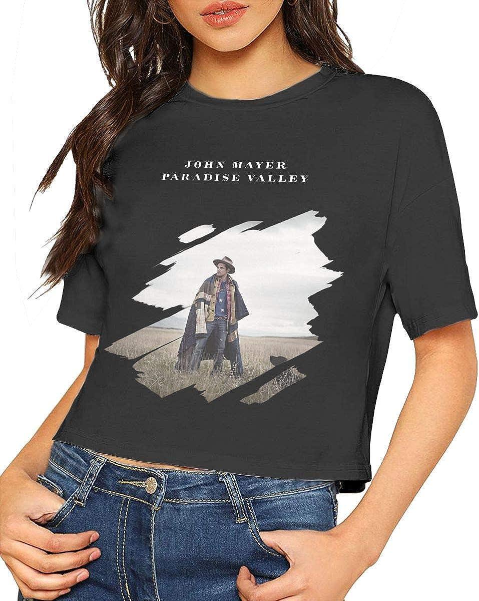 John Mayer Shirt Crop Top Summer Dew Navel T Shirt Womens