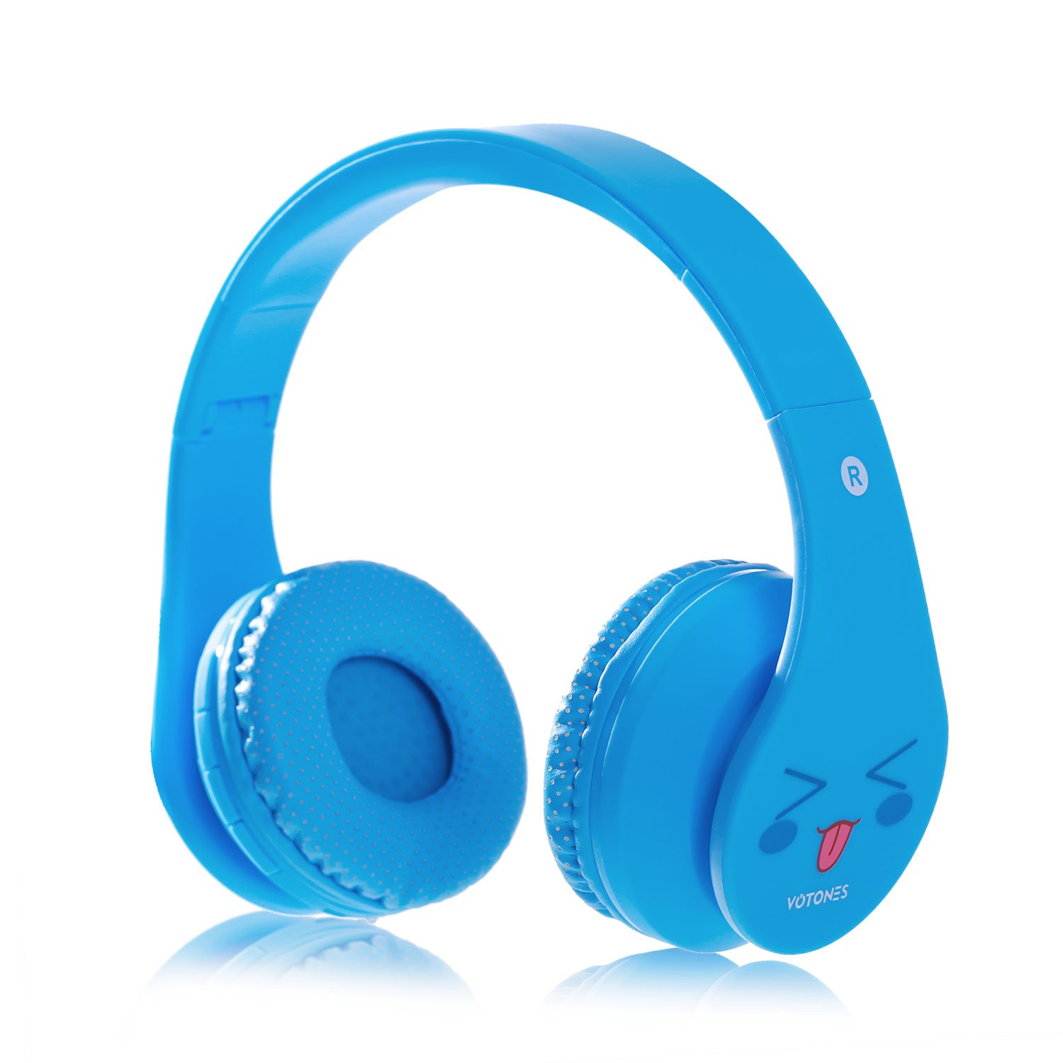 Kids Wireless Headphones,Over Ear Bluetooth Headphones 85dB Volume Limiting,Foldable Headset with Microphone 3.5mm Jack SD Card for Boys Girls Adults,Bluetooth Devices for Smartphone PC Tablet(Blue)