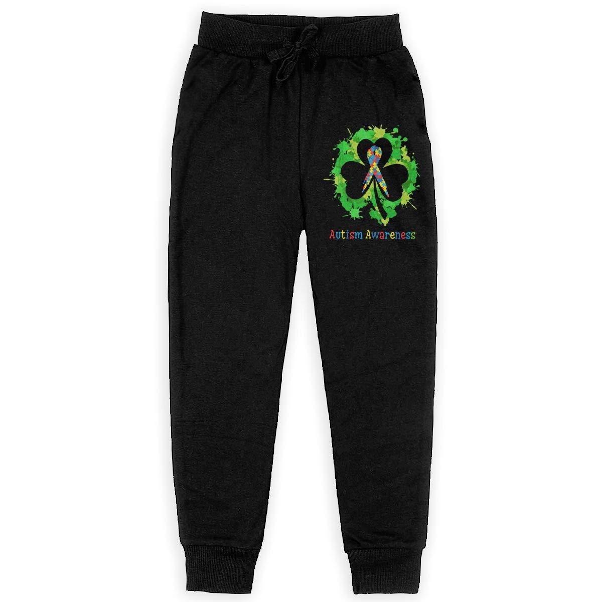 WYZVK22 Autism Awareness Soft//Cozy Sweatpants Teenager Sweat Pant for Teen Boy