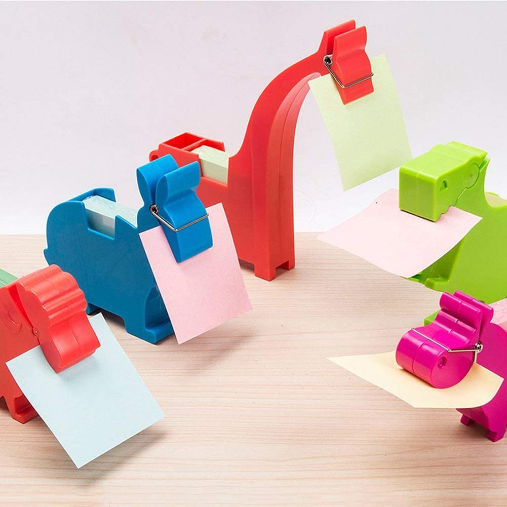 SFGHOUSE Animal Note Clip Multi-Functional Plastic Memo Included Holder Note Stand Organizer H06bear
