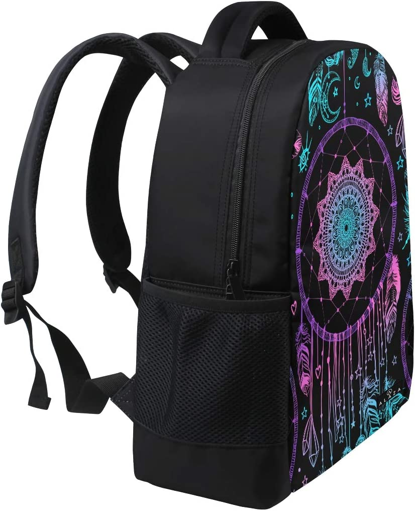 My Daily Indian Ethnic Tribal Dreamcatcher With Feathers Backpack 14 Inch Laptop Daypack Bookbag for Travel College School