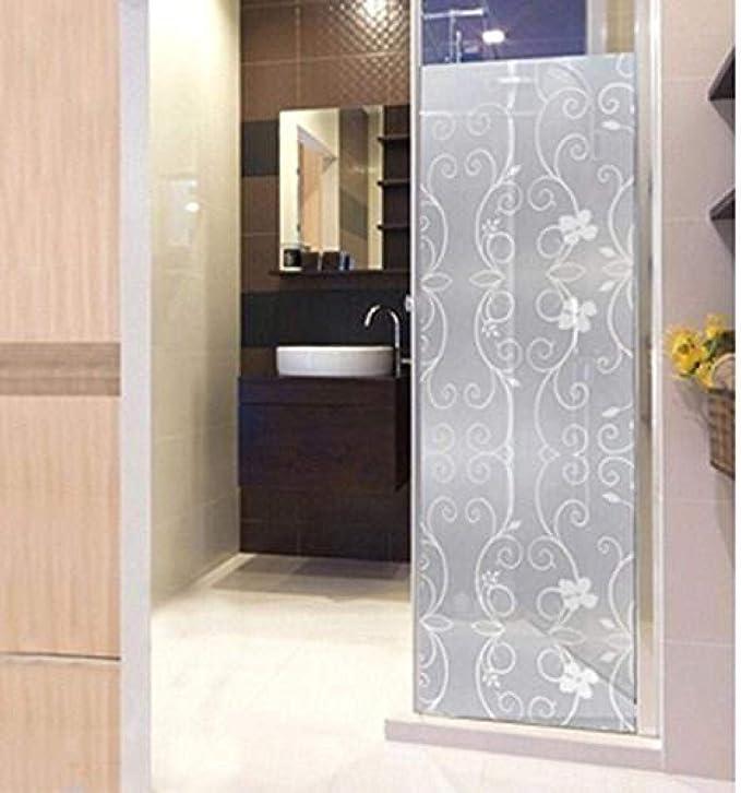 meijiago - Adhesivo de PVC esmerilado para mampara de ducha con ventana cubierta con película autoadhesiva, vidrio, Estilo-y, 45x100cm(17.7x39.4inch): Amazon.es: Hogar