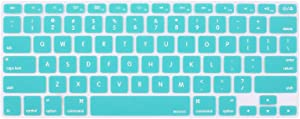 MOSISO Silicone Keyboard Cover Compatible with MacBook Pro 13/15 Inch (with/Without Retina Display, 2015 or Older Version),Older MacBook Air 13 Inch (A1466 / A1369, Release 2010-2017), Hot Blue