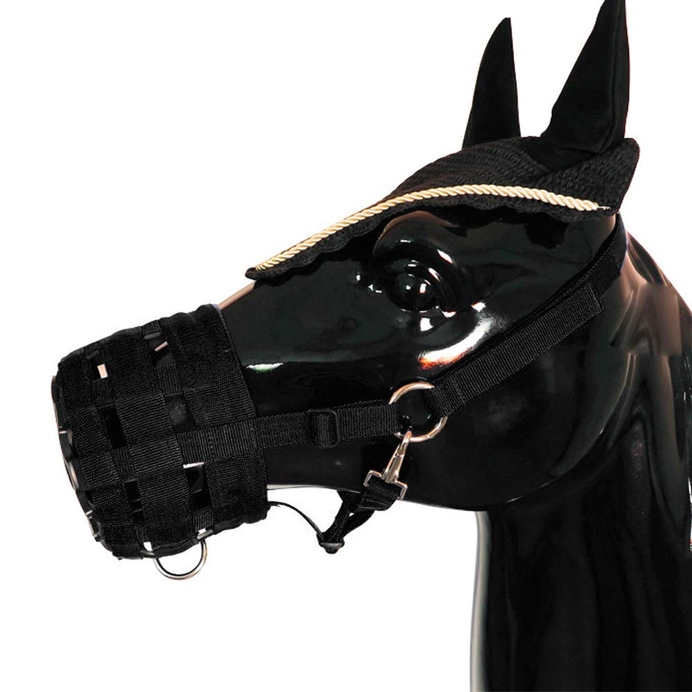 3 Size Optional Easy Breathe Horse Mouth Cover Pony Nylon Grazing Muzzle with Halter Under Chin Head Collar Adjustable Walmeck