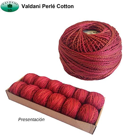 Variegated Valdani Perle Cotton Size ~12~ Embroidery Thread 109 Yard Ball v21 Chimney Sparks