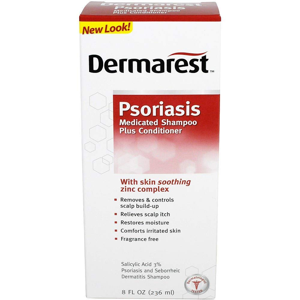 DERMAREST Psoriasis Medicated Shampoo plus Conditioner, 8 OZ