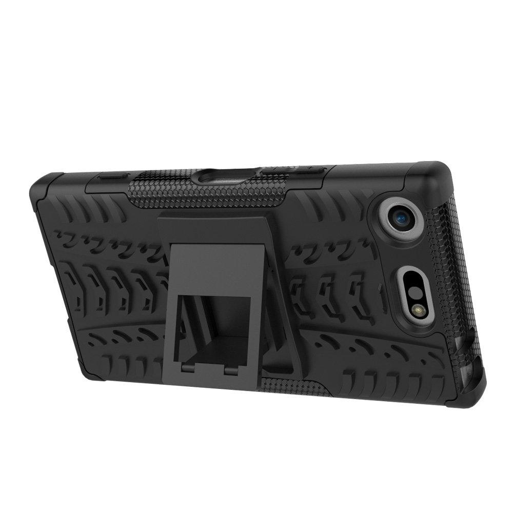 MRSTER Coque de Protection Ultra r/ésistante pour Sony Xperia XZ1 Compact 2 en 1 pour Sony Xperia XZ1 Compact Motif de Pneu avec b/équille et b/équille Amovible