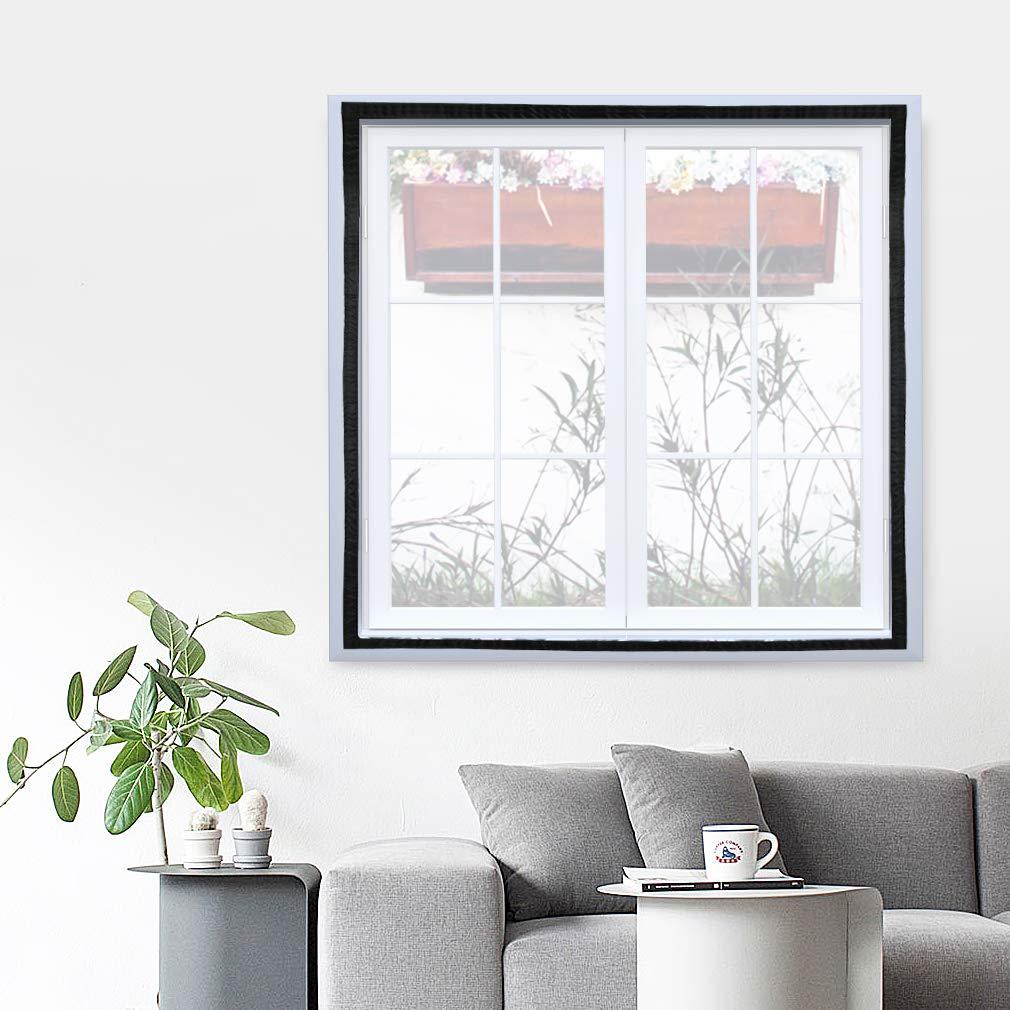 KINLO Moustiquaire Auto-Adhésif avec Velcro Blanc 100*100CM pour Fenêtre en Polyester Rideaux Anti-moustique à Maille Démontable et Lavable plus solide pour chambre