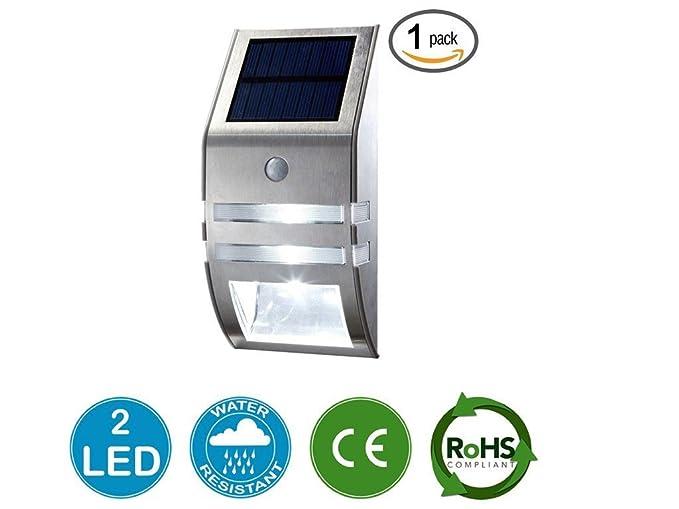 OyxLED® Solar Sensor de movimiento luz exterior diseño de Nueva Generación Garantía de por vida