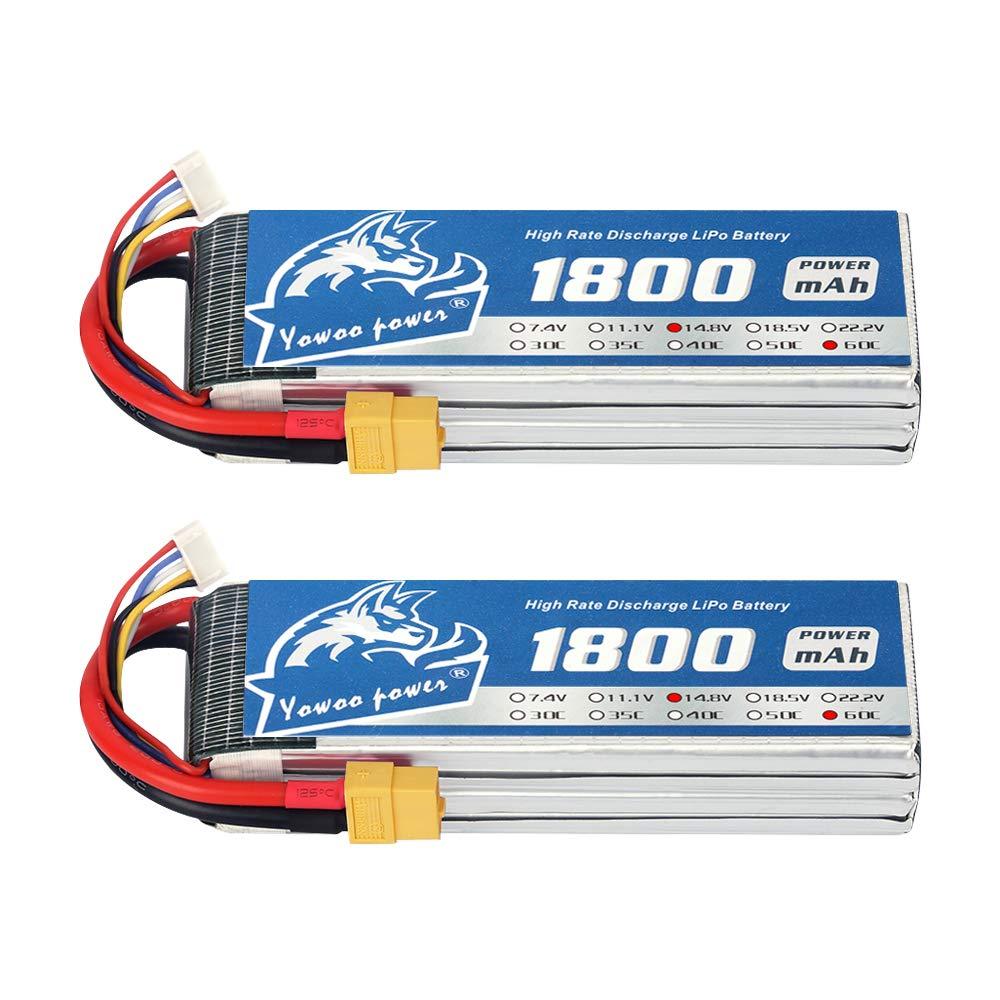 2 Baterias para Mini Racing Drones 1800mAh 14.8V 60C 4S