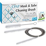 CPAP Hose Cleaner & Sanitizer Brush — The Original [8 in 1] Tube Cleaning Kit for Standard & Slim Tubing — RespLabs Medical Inc.®