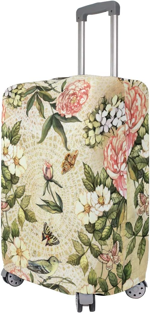 GIOVANIOR Flowers And Birds Luggage Cover Suitcase Protector Carry On Covers