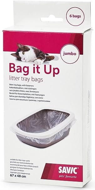 Savic Bag It Up - Bolsas para higiene de gatos grandes (6 unidades): Amazon.es: Productos para mascotas