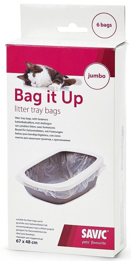 Bag It Up Bolsas para grandes Baños de gato 6 Pack: Amazon ...