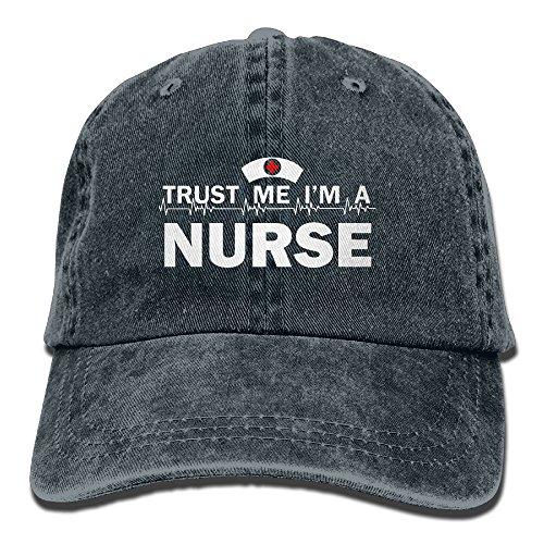 Trust Me I'm A Nurse - Retro Denim Baseball Hat Trucker Hat Dad Hat Adjustable
