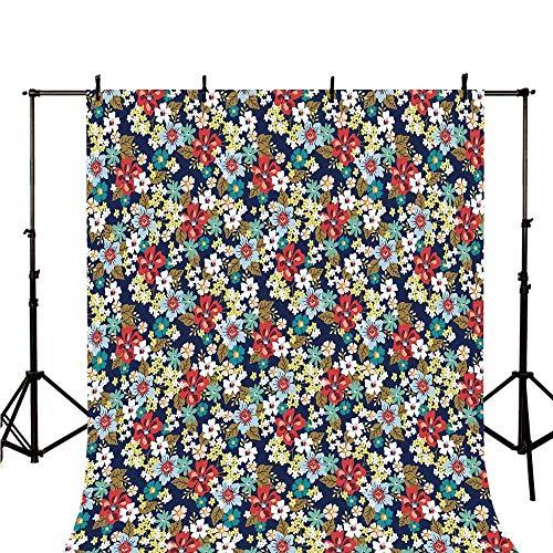 Floral Stylish Backdrop,Ornamental Flourishing Blossoms Mixed Botanical Beauty Fragrance Celebration Image Decorative for Photography,78.7